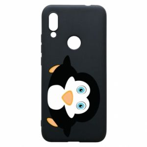 Phone case for Xiaomi Redmi 7 Little penguin looks up