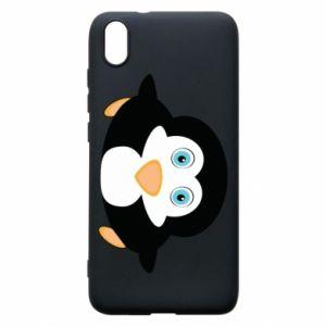 Etui na Xiaomi Redmi 7A Mały pingwin podnosi wzrok