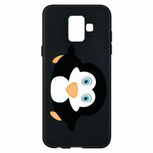 Etui na Samsung A6 2018 Mały pingwin podnosi wzrok