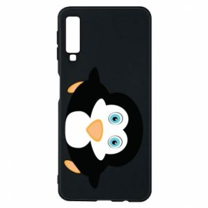Phone case for Samsung A7 2018 Little penguin looks up
