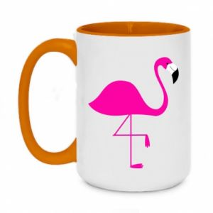 Two-toned mug 450ml Little pink flamingo