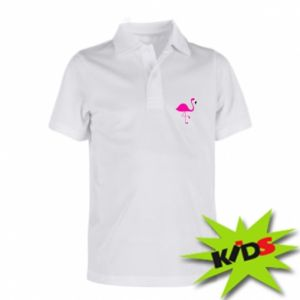 Children's Polo shirts Little pink flamingo