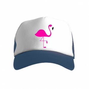 Kid's Trucker Hat Little pink flamingo