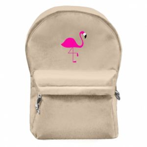 Backpack with front pocket Little pink flamingo