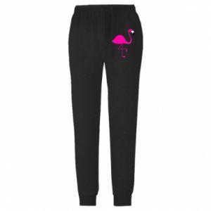 Spodnie lekkie męskie Mały różowy flaming