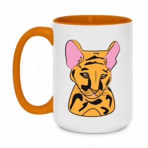 Kubek dwukolorowy 450ml Mały tygrys