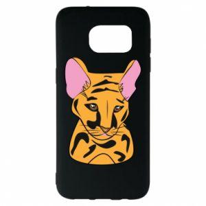Etui na Samsung S7 EDGE Mały tygrys