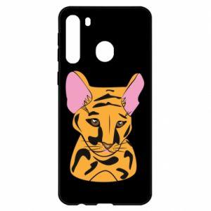 Etui na Samsung A21 Mały tygrys