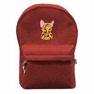 Plecak z przednią kieszenią Mały tygrys - PrintSalon