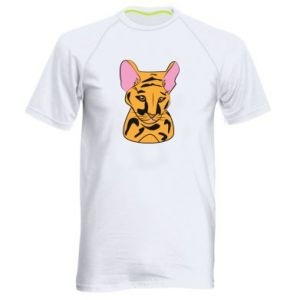 Męska koszulka sportowa Mały tygrys - PrintSalon
