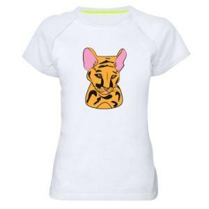 Damska koszulka sportowa Mały tygrys - PrintSalon