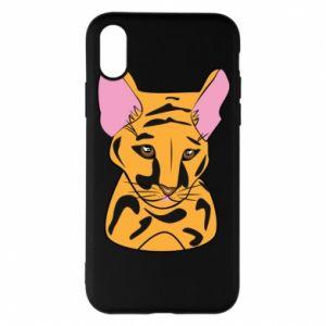 Etui na iPhone X/Xs Mały tygrys