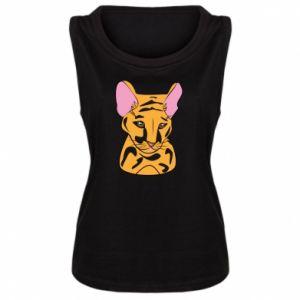 Damska koszulka bez rękawów Mały tygrys