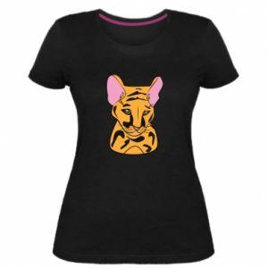 Damska premium koszulka Mały tygrys - PrintSalon