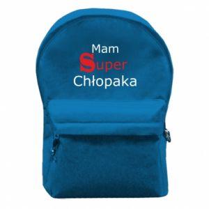 Plecak z przednią kieszenią Mam Super Chłopaka