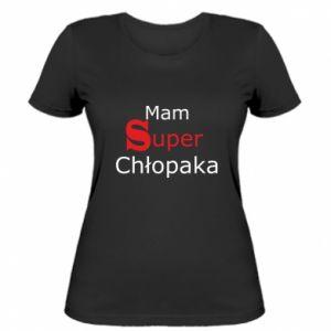 Damska koszulka Mam Super Chłopaka