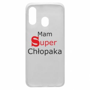 Phone case for Samsung A40 I have a Super Boy - PrintSalon