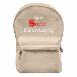 Plecak z przednią kieszenią Mam Super Dziewczynę