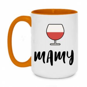 Two-toned mug 450ml Mommy and wine