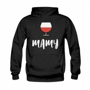 Bluza z kapturem dziecięca Mama i wino