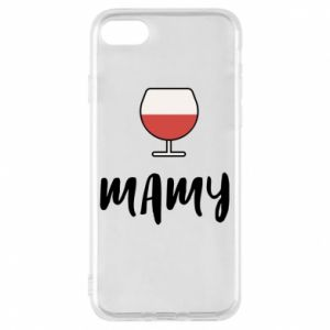 Phone case for iPhone 8 Mommy and wine