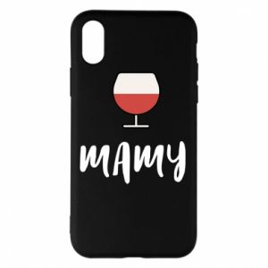 Phone case for iPhone X/Xs Mommy and wine