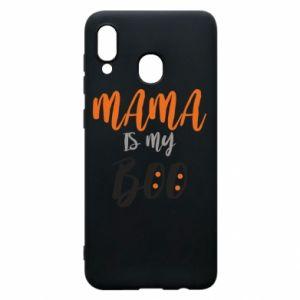 Phone case for Samsung A20 Mama is my boo - PrintSalon