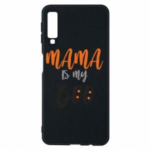 Phone case for Samsung A7 2018 Mama is my boo - PrintSalon