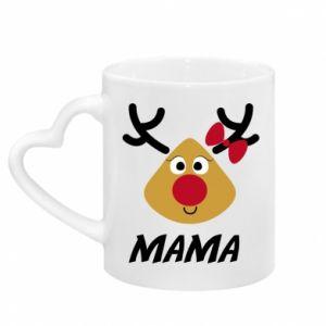 Kubek z uchwytem w kształcie serca Mama jeleń