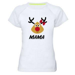 Koszulka sportowa damska Mama jeleń