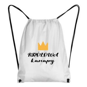 Backpack-bag The queen of the couch - PrintSalon