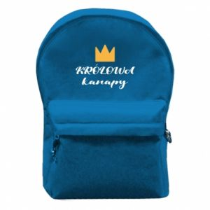 Backpack with front pocket The queen of the couch - PrintSalon