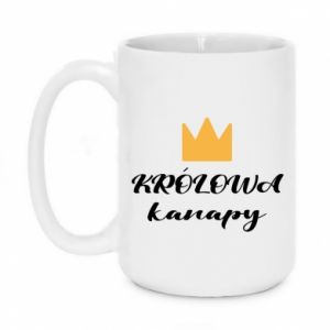 Mug 450ml The queen of the couch - PrintSalon