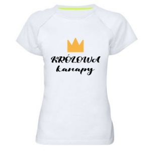 Women's sports t-shirt The queen of the couch - PrintSalon