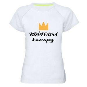 Koszulka sportowa damska Królowa kanapy