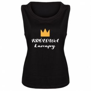 Women's t-shirt The queen of the couch - PrintSalon