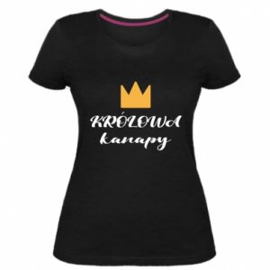Women's premium t-shirt Mama, the queen of the couch - PrintSalon