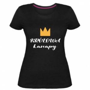 Women's premium t-shirt The queen of the couch - PrintSalon
