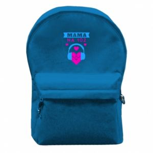 Backpack with front pocket Mom on 102