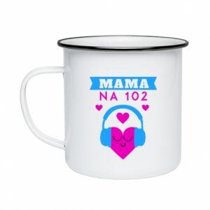Enameled mug Mom on 102