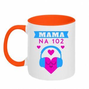 Two-toned mug Mom on 102