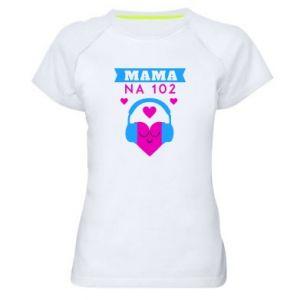 Women's sports t-shirt Mom on 102