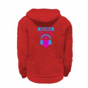 Kid's zipped hoodie % print% Mom on 102