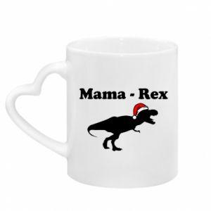 Kubek z uchwytem w kształcie serca Mama - rex