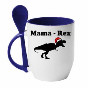 Kubek z ceramiczną łyżeczką Mama - rex