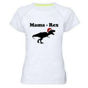 Damska koszulka sportowa Mama - rex