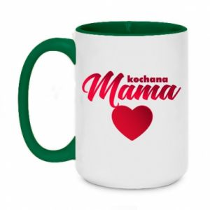 Two-toned mug 450ml mother heart