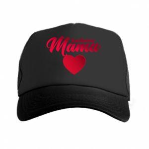 Trucker hat mother heart