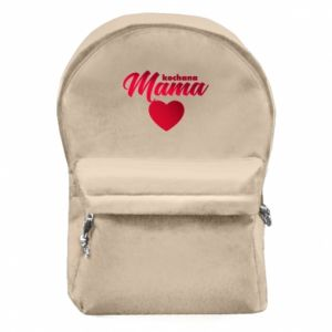 Backpack with front pocket mother heart