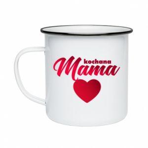 Enameled mug mother heart